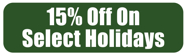 Get 15% OFF on Select Holidays at Eddie's Italian Restaurant!